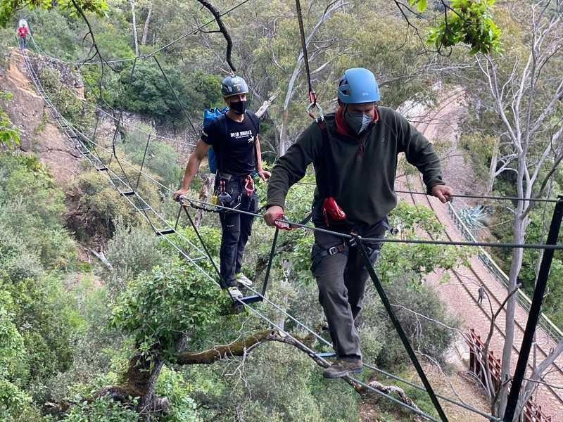 New Via Ferreta overhead adventure trail open in El Colmenar, Málaga