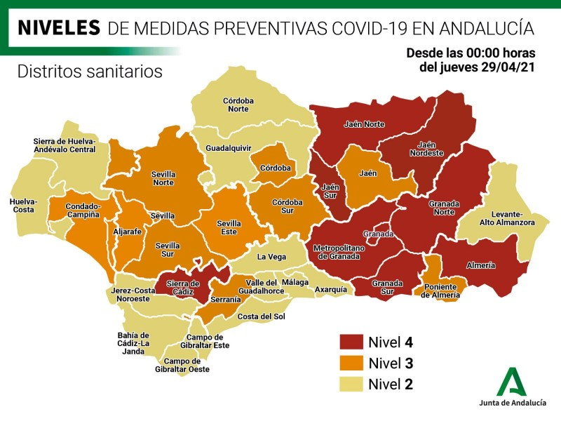94 towns and villages in Andalusia remain confined as free movement between provinces begins