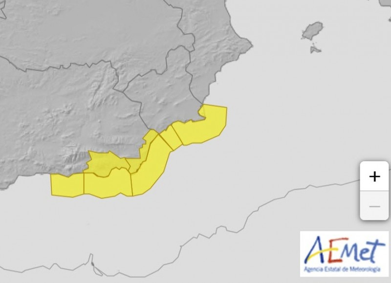 <span style='color:#780948'>ARCHIVED</span> -  Yellow warning for rough seas Monday and Tuesday in Granada and Almeria