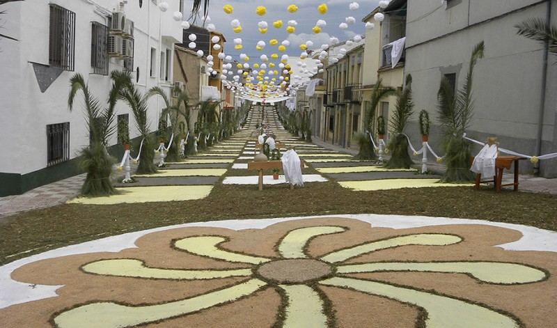 <span style='color:#780948'>ARCHIVED</span> - Corpus Christi salt carpets and altars given cultural protection in Jaen