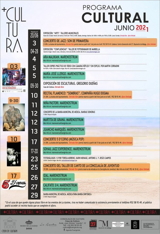 Fuengirola celebrates a month of cultural events with the start of the Marenostrum festival
