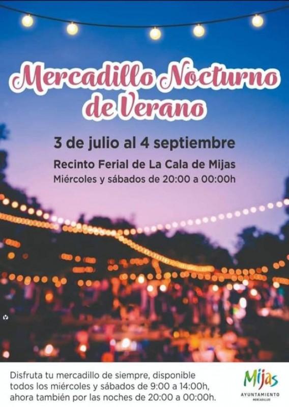 Summer night market in Mijas until September 4